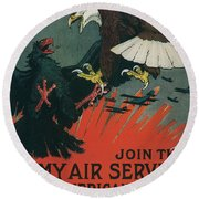 Join The Army Air Service Round Beach Towel