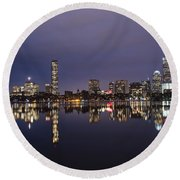 Charles River Clear Water Reflection Round Beach Towel