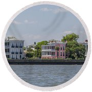 Charleston By The Sea Round Beach Towel
