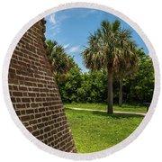 Charleston Fortification Round Beach Towel