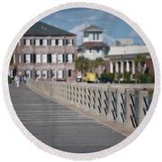 Charleston High Battery Side Walk Round Beach Towel