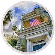 Charleston Patriot - Watercolor Round Beach Towel