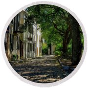 Charleston Side Street Round Beach Towel