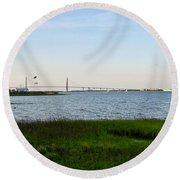 Charleston South Carolina Waterfront Park During Sunset Round Beach Towel