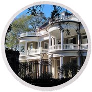 Charlestons Beautiful Architecure Round Beach Towel
