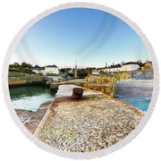 Charlestown From The Sea Wall Round Beach Towel