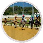Charlestown Races Round Beach Towel