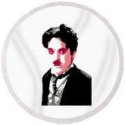 Charlie Chaplin Round Beach Towel