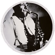 Charlie Parker Round Beach Towel by American School