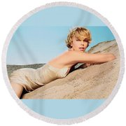 Charlize Theron Round Beach Towel