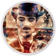 Charlot Colors And Poems  Round Beach Towel