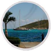 Charlotte Amalie Harbor Round Beach Towel