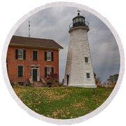 Charlotte-genesee Lighthouse Round Beach Towel