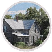 Charming Country Home Round Beach Towel