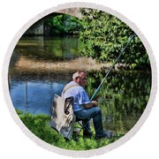 Chartres, France, A Good Day Fishing Round Beach Towel