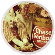 Chase And Sanborn Round Beach Towel