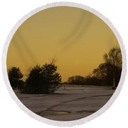 Chasewater Evening Round Beach Towel