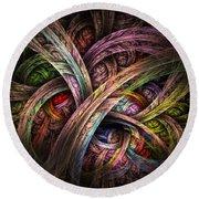 Chasing Colors - Fractal Art Round Beach Towel