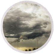Chasing Nebraska Stormscapes 044 Round Beach Towel