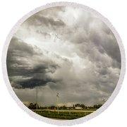 Chasing Nebraska Stormscapes 045 Round Beach Towel