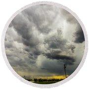 Chasing Nebraska Stormscapes 046 Round Beach Towel