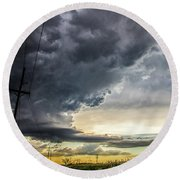 Chasing Nebraska Stormscapes 047 Round Beach Towel