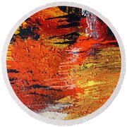 Chasm Round Beach Towel