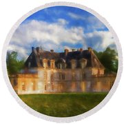 Chateau D'acquigny  Round Beach Towel