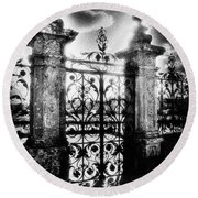 Chateau De Carrouges Round Beach Towel