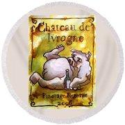 Chateau De Ivrogne Round Beach Towel