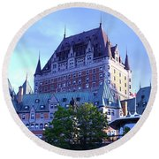 Chateau Frontenac, Montreal Round Beach Towel