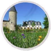 Chateau Guiraud In Spring Round Beach Towel
