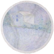Chateau - House In France Round Beach Towel