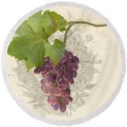 Chateau Pinot Noir Vineyards - Vintage Style Round Beach Towel