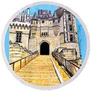 Chateau Saumur, A Long Way Up Round Beach Towel