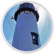 Chatham Lighthouse Round Beach Towel