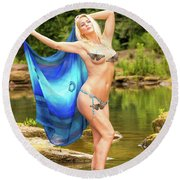 Chattahoochee Meditation Dance Round Beach Towel
