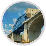 Chattanooga Bridge Round Beach Towel
