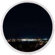 Chattanooga By Night Round Beach Towel