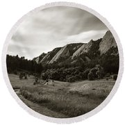 Chautauqua Night Path 2 Round Beach Towel