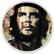 Che Guevara Revolution Gold Round Beach Towel