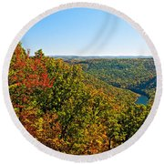 Cheat River Round Beach Towel