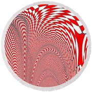 Checker 2 Round Beach Towel