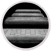 Checkered Steps Round Beach Towel