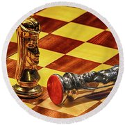 Checkmate Round Beach Towel