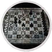 Checkmate In One Move Round Beach Towel