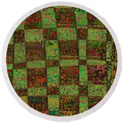 Checkoff Abstract Pattern Round Beach Towel