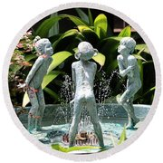 Cheekwood Fountain Round Beach Towel