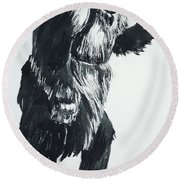 Cheela Captive Wild Woman Round Beach Towel