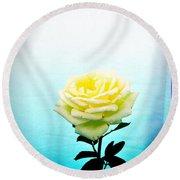 Cheerful Yellow Rose Round Beach Towel